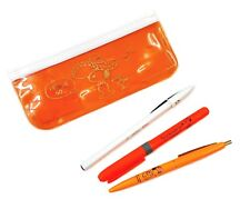 Bic Peanuts Snoopy 2 Ballpoint Pens + 1 Highlighter + Pen Pouch Set (Orange)