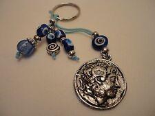 Greek  Eye Beads Alexander The Great Sun of Vergina Ancient Greece Coin