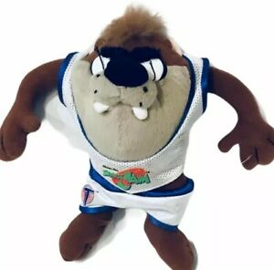 1996 Space Jam Warner Bros. Taz Plush Basketball Uniform Mcdonalds Toy Gift B71