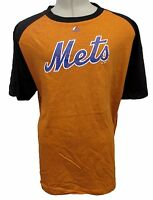 New York Mets Men's Big & Tall XLT-6XL Graphic T-Shirt MLB Orange Two Tone A13MR
