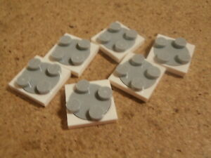 LEGO VIDIYO 6 x plaque tournante 2 x 2 blanc gris white grey turntable Neuf