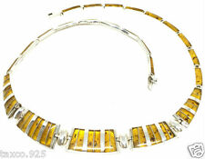 Silver Amber Necklace Mexico Taxco Mexican 950 Sterling