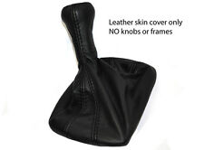 BLACK LEATHER TRIANGLE STITCH FITS PORSCHE 924 944 968 GEAR BOOT COVER