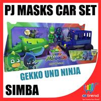 Original SIMBA PJ MASKS Car Fahrzeug & Spielfigur Dual Pack 2er Set Gekko Ninja