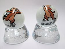 2 - THE CHIP MUNKS CH IP & DA LE COLLECTOR  MARBLES