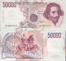 50.000 Lire epubblica Italiana - Bernini - primo tipo - 1992 R4 - MOLTO R@R@