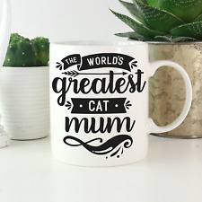 More details for cat gifts for women: cat mum mug: funny birthday christmas gift for cat lovers!