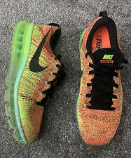 Nike Running Flyknit Size 7 Used Orange Black Green