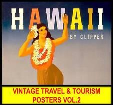 VINTAGE TRAVEL TOURISM POSTER Lot #2 DVD Old Advertising USA Art Deco Nouveau