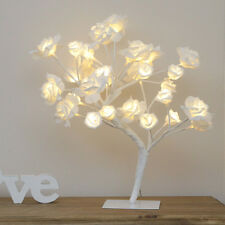 45cm Plug In Indoor Christmas LED Light Up Rose Twig Tree | Home Bedroom
