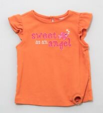 "Gymboree ""Floral Reef"" Fish Bubbles ""sweet as an angel"" Orange Top, 3T"