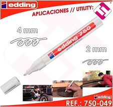 Edding 750 marcador permanente con efecto lacado blanco