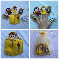 Handmade Little Belle - 6pcs - Comes with Carrying Case - Finger Puppets