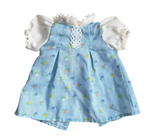 VINTAGE FISHER PRICE MY FRIEND DOLL CLOTHES BLUE & WHITE DRESS W/ FLOWERS