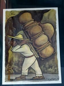VINTAGE ( 1944) FRAMED DIEGO RIVERA COLLOTYPE