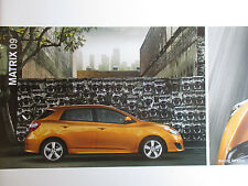 Mint Condition 2009 ToyotA MATRIX Brochure 09