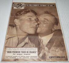 MIROIR SPRINT 643 1957 CYCLISME ANQUETIL GAGNE TOUR FRANCE JANSSENS DEFILIPPIS
