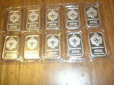 Ten (10) Scottsdale Silver Bars .999 Fine Silver