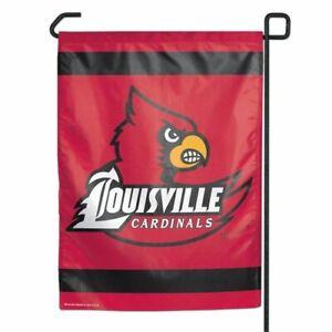 "University of Louisville Cardinal Garden Flag NCAA Double Sided 12.5"" x 18"""