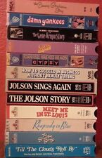 Lot of 12 Classic Movie Musicals Many OOP All VG to New Condition Free Shipping