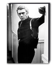Steve McQueen - Bullitt Movie B&W - Canvas Wall Art Framed Print - Various Sizes