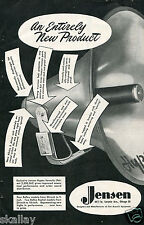 1948 Print Ad of Jensen Hypex Projector Horn