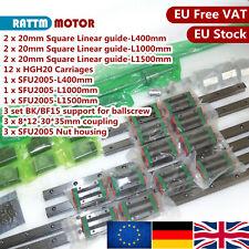 GB:Square Linear Guide Rail&SFU2005 Ballscrew 400/1000/1500mm-C7&BK/BF15&HGH20CA