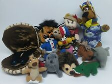 """12 Lot Plush Toys Characters From Books Movies Cartoons Sizes Vary 8"""" To 3"""""""