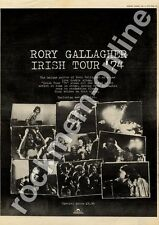 Rory Gallagher Irish Tour MM4 LP Advert 1974 #1 AB