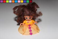 Lego Duplo-princesa-rock-cabello marrón-naranja-chica personaje-Castillo
