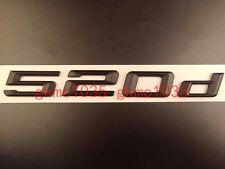Matte Black Trunk Emblem Badge Letters for BMW E60 E61 F10 F11 5-Series 520d 520
