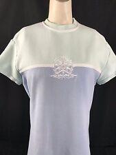 St. John Sport Collection by Marie Gray Dress 2 Pastel Blue Green White Emblem