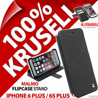 New Krusell Malmo Flip Case for Apple iPhone 6 Plus / 6S Plus Wallet Stand Folio