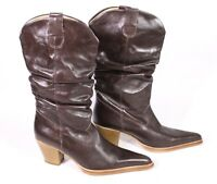 10S Olympic Damen Western Stiefel Cowboy Boots Leder braun Gr. 39 Lederfutter
