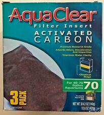 AquaClear 70 (300) Aquarium Filter 3-pack Carbon A-1386 A1386