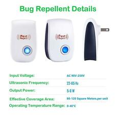 4-Pack Ultrasonic Pest Repeller Control Electronic Repellent Mice Rat Reject
