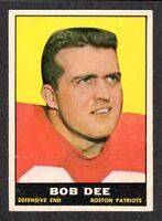 1961 TOPPS FOOTBALL #181  Bob Dee  Holy Cross  BOSTON PATRIOTS  EX-MINT  A