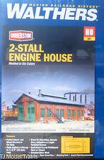 Walthers HO #933-3007 ( 2-Stall Engine House ) Kit Plastic