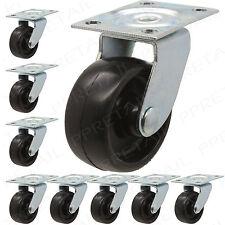 PACK OF 8 NYLON 40mm SWIVEL CASTOR WHEELS SET Small Heavy Duty Trolley Rollers
