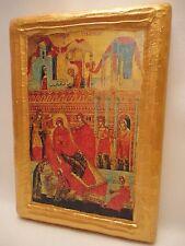 Nativity of Theotokos Mary Saint Anne Byzantine Greek Orthodox Icon on Real Wood