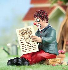 Gilde Clowns - Clown mit Zeitung Handbemalte Sammlerfigur Die Clowns-Revue 10209
