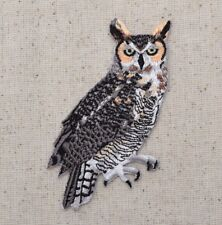 Great Horned Owl - Bird/Animal/Tiger/Hoot -  Iron on Applique/Embroidered Patch