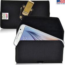 Turtleback Samsung Galaxy S6 Nylon Pouch Holster Phone Metal Belt Clip Case