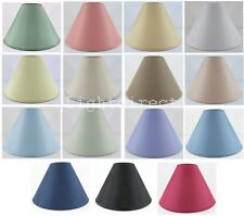 """9"""" OR 12**"""" COTTON COOLIE LAMPSHADE TABLE CEILING LIGHT SHADE  COLOUR MIX  NEW"""