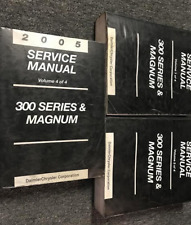 2005 DODGE MAGNUM CHRYSLER 300 300 SERIES Service Shop Repair Manual Set INCOMPL
