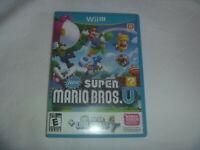New Super Mario Bros U + Luigi (2013) Nintendo Wii U Wiiu Game Good Condition