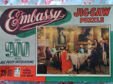 VINTAGE 1950s/1960 EMBASSY JIGSAW PUZZLE - 'THE TOAST' -  OVER 900 PIECES - FAB
