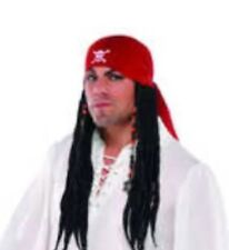 New Pirates Wig with Bandara & dreadlocks Costume Cosplay Carribean xmas