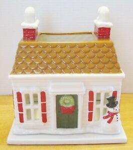 New BATH & BODY WORKS SLATKIN Holiday House Christmas Candle Luminary 2010 - NIB