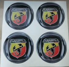 TUNING ADESIVO STICKERS PER CERCHI IN LEGA 3D X 4 PZ 50 mm ABARTH FIAT 500 BRAVO